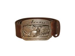 Arosa Ledergurt Gürtel von Souvenir Shop Arosa - Aroser Souvenirs, Andenken und Geschenke