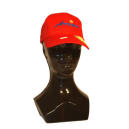 Arosa Cap Rot mit Arosa Schriftzug Aufstick von Souvenir Shop Arosa - Aroser Souvenirs, Andenken und Geschenke