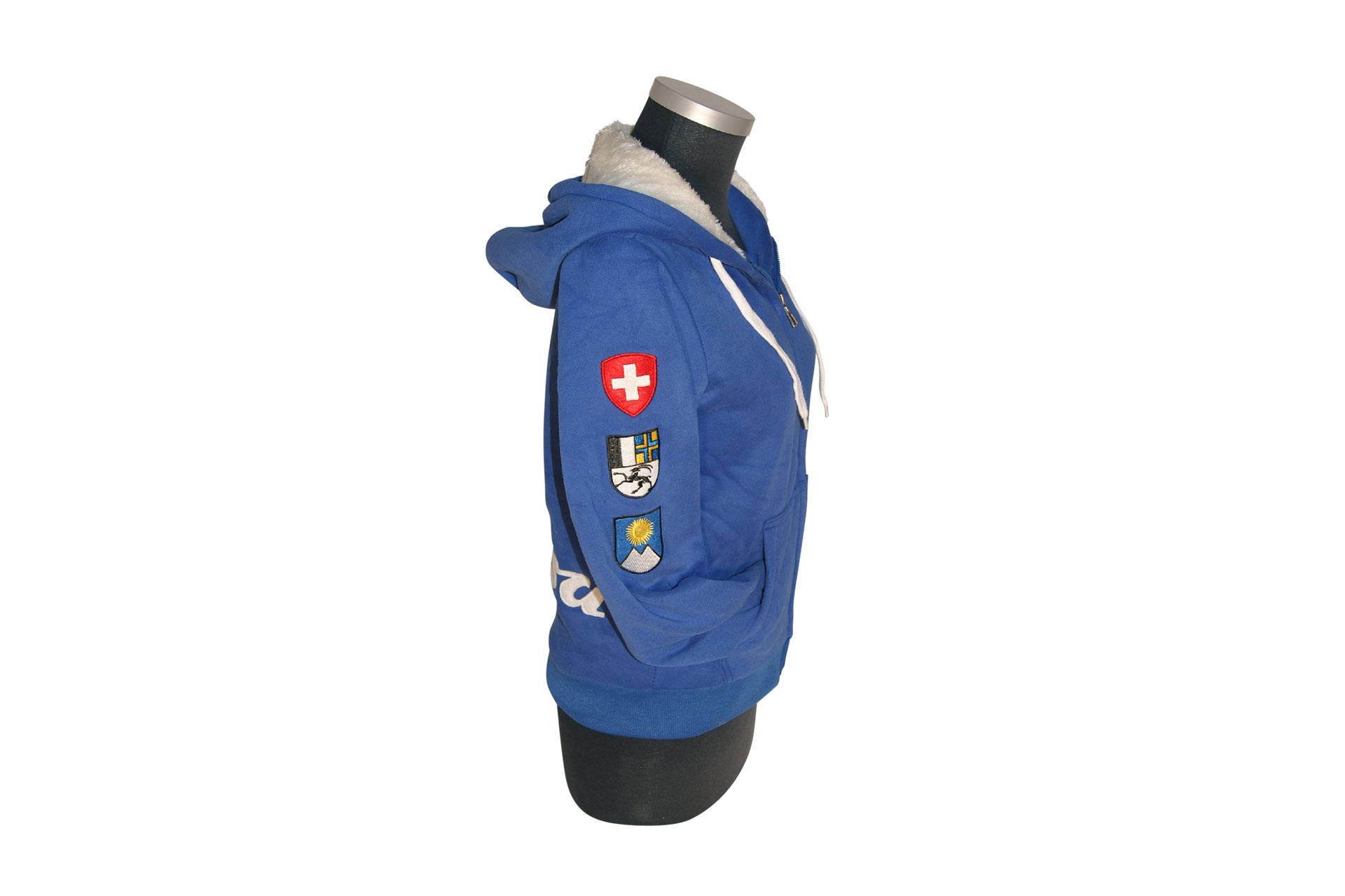 19d91ac8c3ccc7 Arosa Zip Hoody Blau von Souvenir Shop Arosa - Aroser Souvenirs