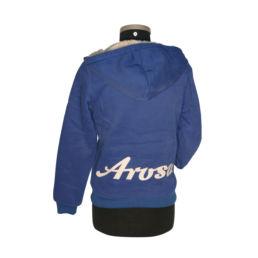 Arosa Zip Hoody Blau von Souvenir Shop Arosa - Aroser Souvenirs, Andenken und Geschenke