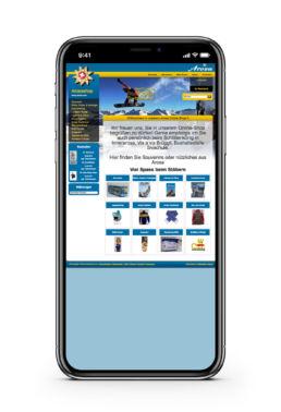 arosershop.ch und arosashop.ch screenshot sortiment mobile ansicht online shop arosa