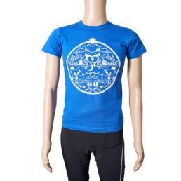 Arosa Lenzerheide Frauen T-Shirt Blau Weiss